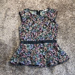 BCBGeneration sleeveless peplum floral top